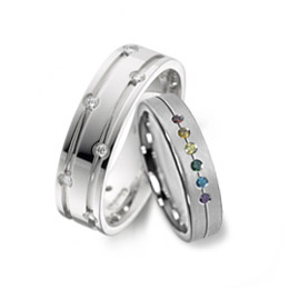 Unusual engagement rings for gay and lesbian marriage and weddings