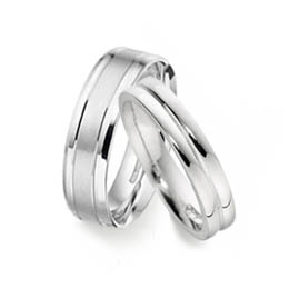 Patterned lesbian and gay wedding rings section