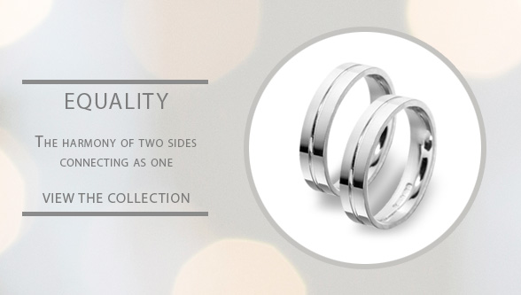 Patterned Gay Lesbian White Gold Wedding Rings