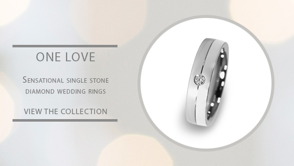 Single stone diamond wedding rings for Gay and Lesbian couples
