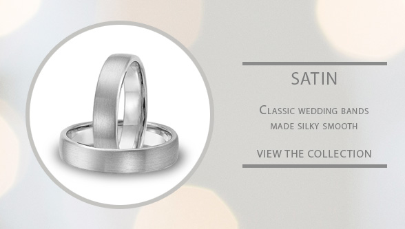 Satin finished classic wedding rings for LGBT couples