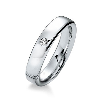 Gay wedding ring, solitaire diamond LGBT ring
