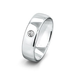 Solitaire Single Diamond Gay Lesbian Wedding Ring