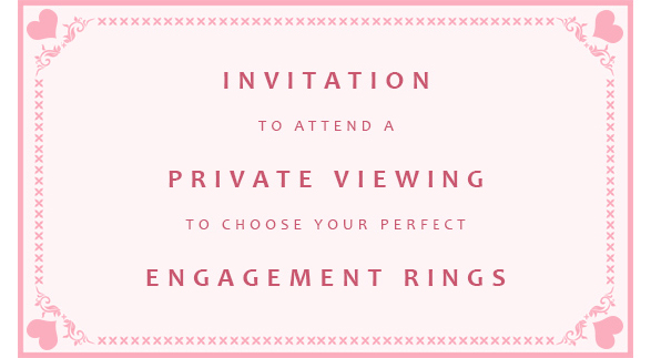 Valentine's engagement ring proposal private viewing invitation