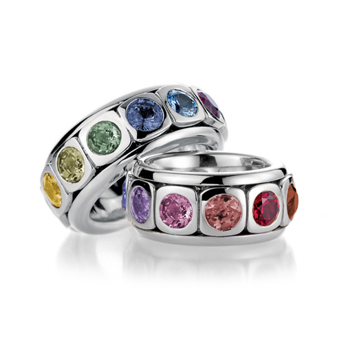 Gay Lesbian Rainbow Sapphire Engagement Pride Ring