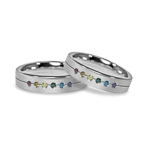 rainbowdiamondring bride wedding rings engagement rainbow the gorgeous sunshine