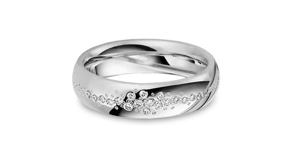Sparkling Diamond Gay Lesbian Engagement Ring