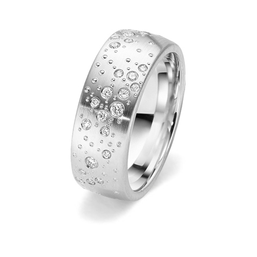 Gorgeous diamond starlight engagement ring with 24 diamonds from www.wooltonandhewitt.co.uk the LGBT gay lesbian wedding jeweller