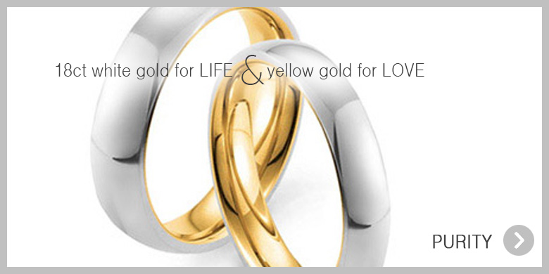 Ultimate classic 24ct pure gold wedding ring for gay and lesbian couples