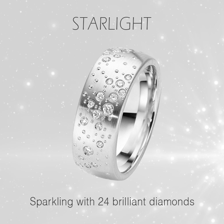 Starlight 24 diamond engagement ring for lesbian and gay weddings marriage