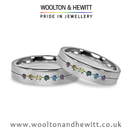 Diamond wedding ring for gay and lesbian weddings marriages in England Wales and Scotland