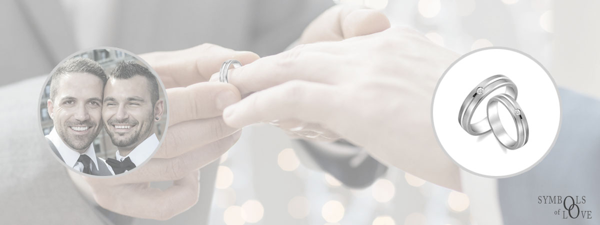 Woolton and Hewitt Gay rainbow wedding and engagement rings delivered to Australia, Spain, Finland, Norway, Denmark and more