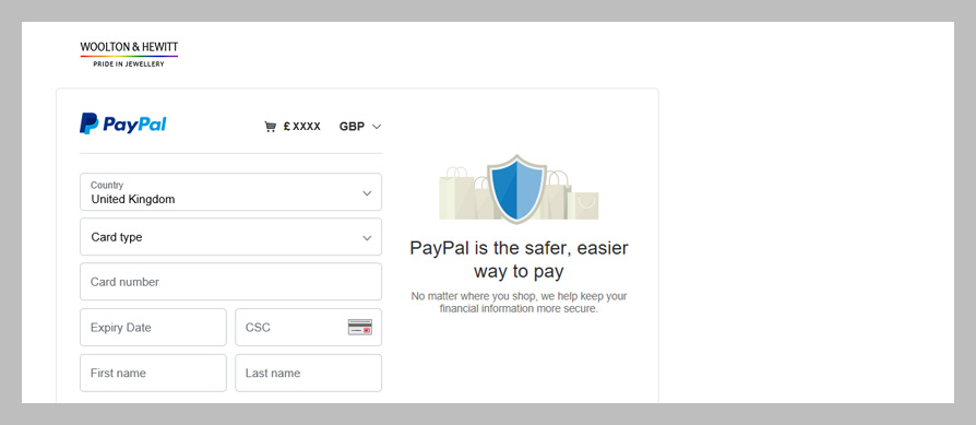 Help using PayPal - you don't need an account and it's highly secure