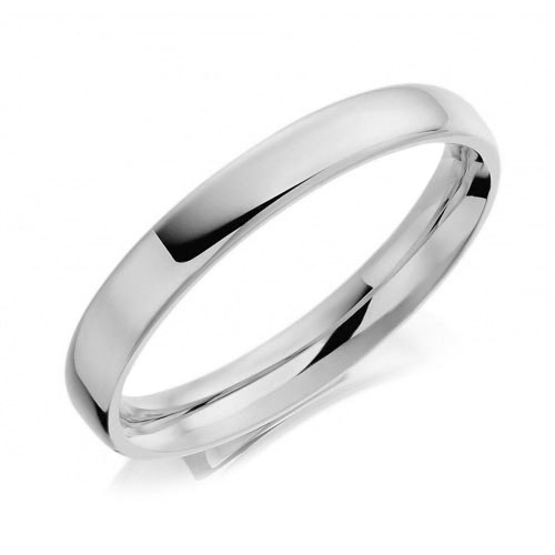 Traditional Plain Polished Soft Edged Gay & Lesbian Wedding Ring 7mm