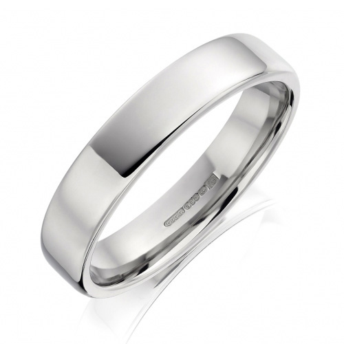 Stylish Flat Polished Soft Edge Gay & Lesbian Wedding Ring 5mm