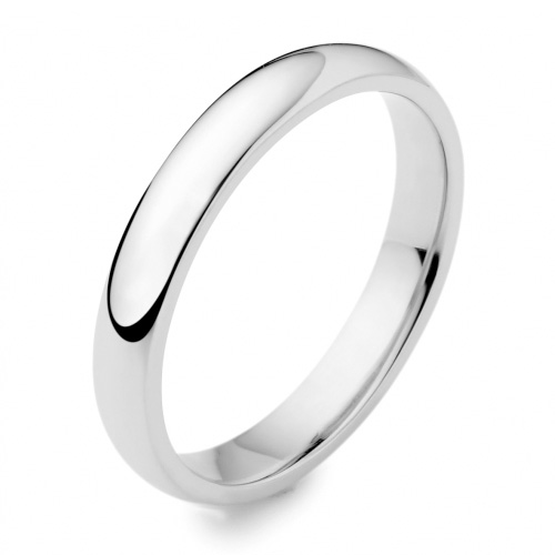 Gay & Lesbian Traditional Medium Weight Plain Rounded Wedding Ring 3mm