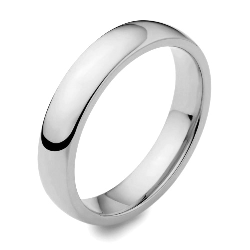 Gay & Lesbian Traditional Medium Weight Plain Rounded Wedding Ring 4mm