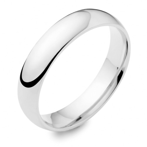 Traditional Medium Weight Plain Rounded Wedding Ring 5mm by wooltonandhewitt.co.uk