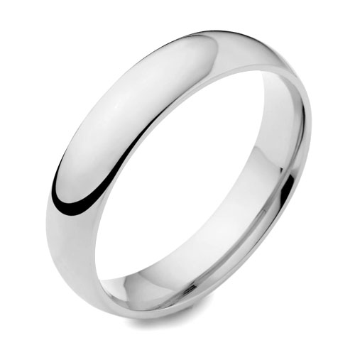 Classic Heavy Plain Polished Rounded Wedding Ring 6mm from Woolton & Hewitt perfect for gay marriage and lesbian weddings.