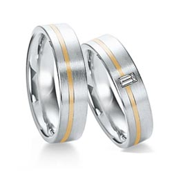 Two-tone gay and lesbian wedding ring