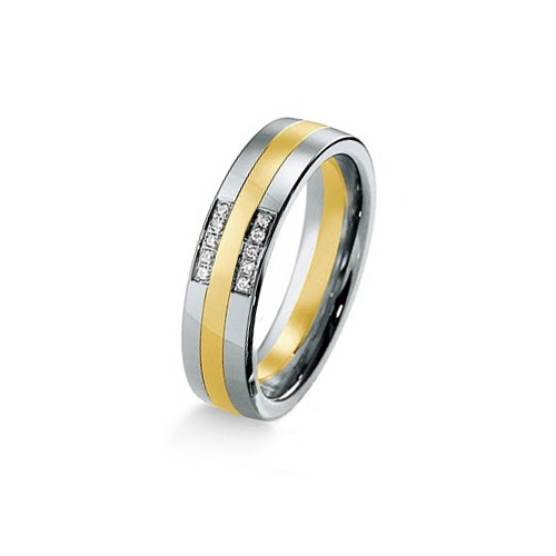 Impressive 6mm Bi Colour Polished Wedding Ring for UK LGBT gay