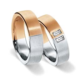 wedding rings in rainbow colours