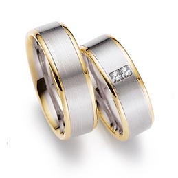 2 tone colour wedding ring