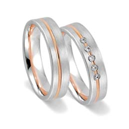 lgbt rainbow wedding rings