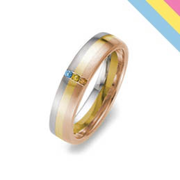 transgender pride wedding ring