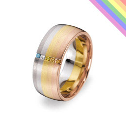 rainbow wedding ring