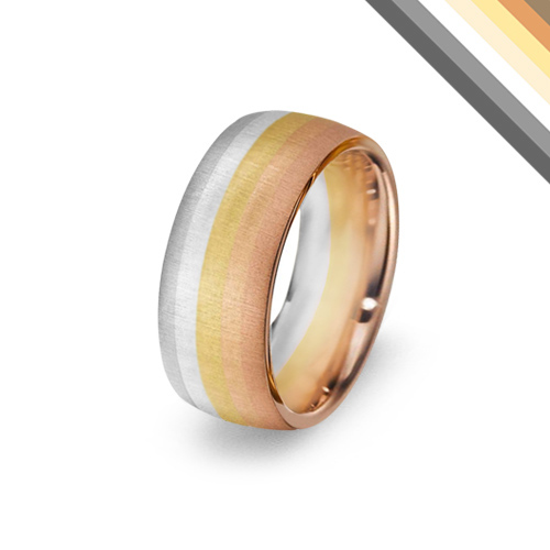 Gay pride wedding rings uk