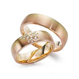 3 colour wedding rings