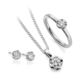 Special gay lesbian diamond jewellery gift set or engagement jewellery